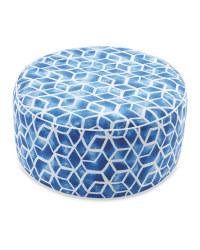 Blue Mosaic Inflatable Ottoman