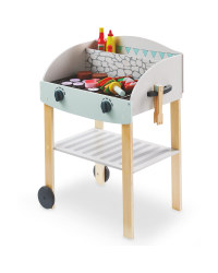 Little Town Wooden BBQ Cart
