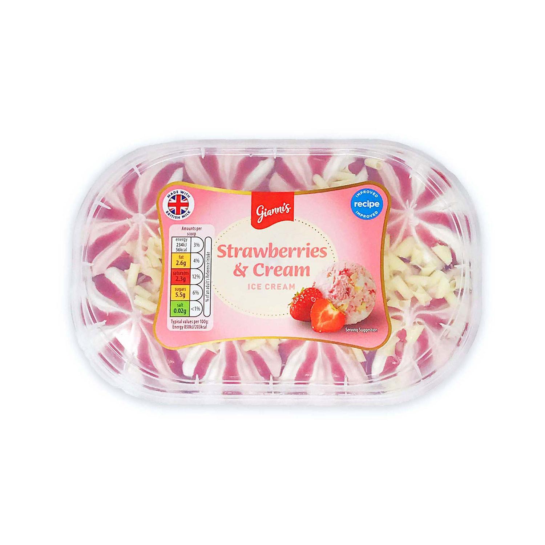 Strawberries & Cream Ice Cream