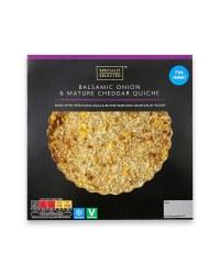 Balsamic Onion/Cheddar Cheese Quiche