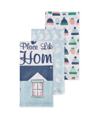 Xmas Home Novelty Tea Towels 3 Pack