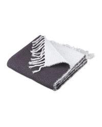 Grey/White Reversible Flatweave Rug