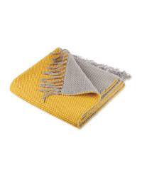 Grey/Yellow Reversible Flatweave Rug