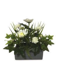 Grey Flower Window Box