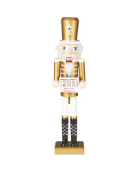 Gold Countdown Wooden Nutcracker