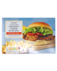 Southern Fried Chicken Thigh Burgers