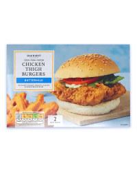 Buttermilk Chicken Thigh Burgers
