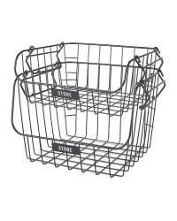 Black Tiered Wire Baskets 2 Pack