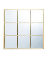 Kirkton House Gold Grid Mirror