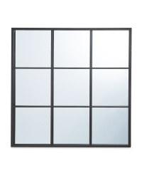 Kirkton House Black Grid Mirror