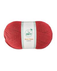 So Crafty Raspberry Aran Yarn