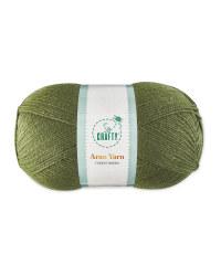So Crafty Forest Green Aran Yarn
