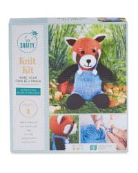 Red Panda Knitting Kit