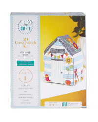So Crafty 3D Shed Craft Kit