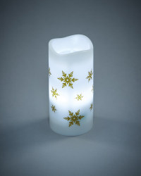 Snowflake Christmas Projector Candle