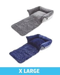 XL Herringbone Roll Down Pet Bed