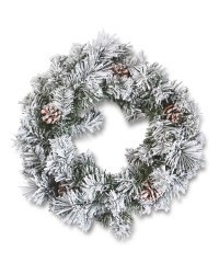 Frosted Traditional Christmas Wreath