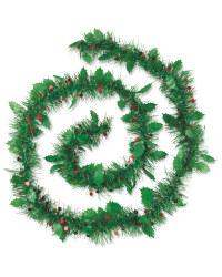 Perfect Christmas 2m Holly Tinsel