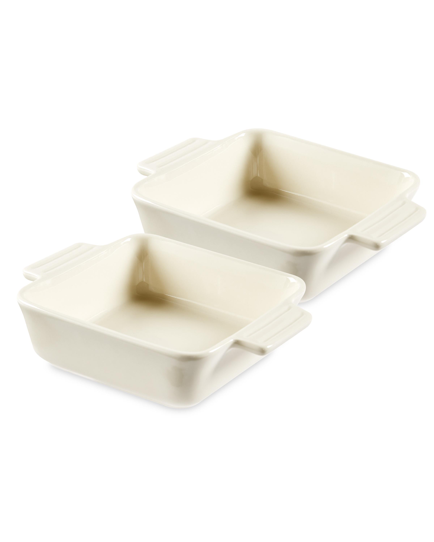 Cream Square Oven/Tableware 2 Pack