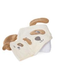 Dog Hooded Baby Towel & Wash Mitt