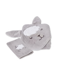 Sheep Hooded Baby Towel & Wash Mitt