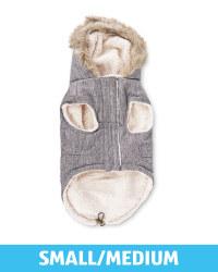 Pet Collection Grey Dog Parka Coat