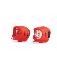 Front And Rear Silicone Bike Lights - Red