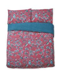 Pink Floral King Size Duvet Set