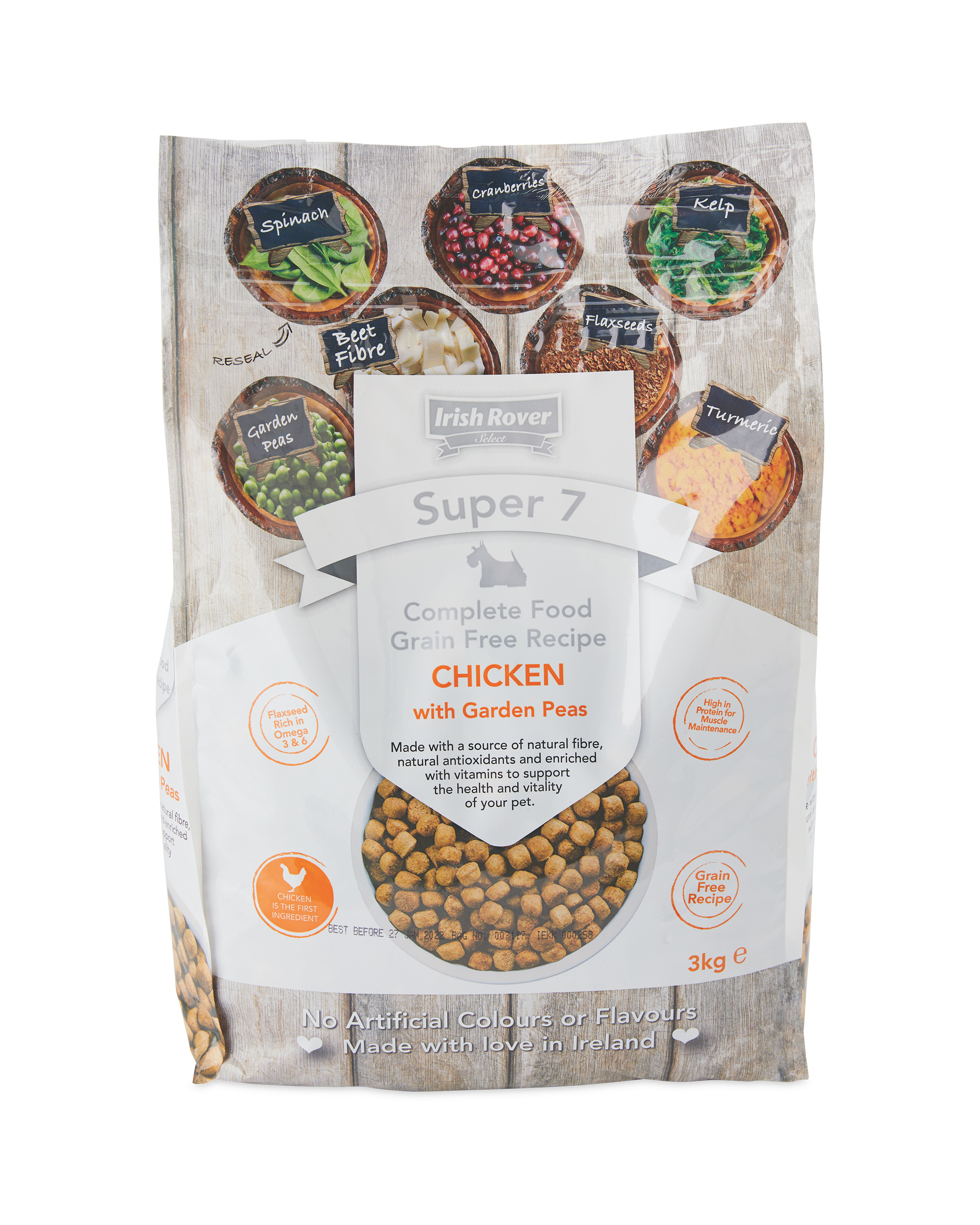 Super 7 Chicken & Peas Dog Food 3kg
