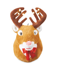 Tan/Pink Nose Singing Reindeer Head
