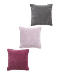 Plain Velvet Effect Cushion