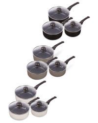 Kirkton House 3-Piece Saucepan Set