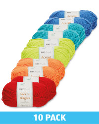 Bright Double Knit Yarn 10 Pack