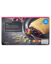 Cherry Bakewell Sponge Pudding