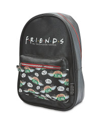 Friends PU Leather Logo Backpack