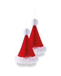 Santa Hat Decoration 2 Pack