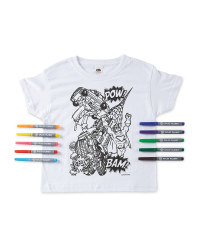 Superhero Colour-In  T-Shirt