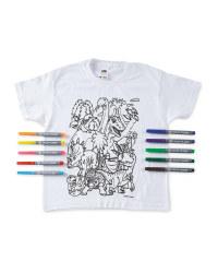 Dinosaur Colour-In  T-Shirt