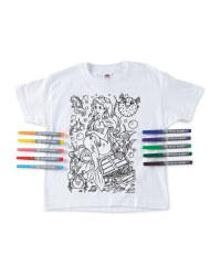 Mermaid Colour-In  T-Shirt