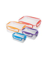Rectangular Brights Clip Lid Storage