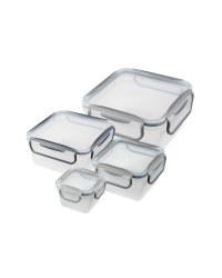Square Greys Clip Lid Storage