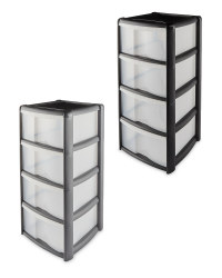4 Drawer Plastic Storage Tower