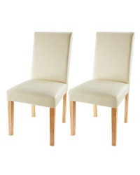 2 Cream Dining Chairs