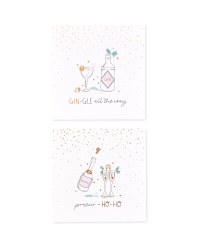 Gin/Prosecco Christmas Cards 20 Pack