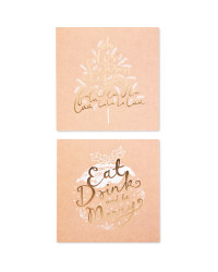 Pudding/Tree Christmas Cards 20 Pack