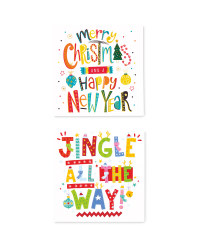 Festive Mini Christmas Cards 30 Pack