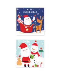 Santa Mini Christmas Cards 30 Pack