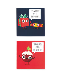 Pudding Mini Christmas Card 30 Pack