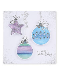Baubles Luxury Christmas Card 6 Pack