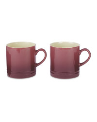 Plum Stoneware Mugs 2 Pack